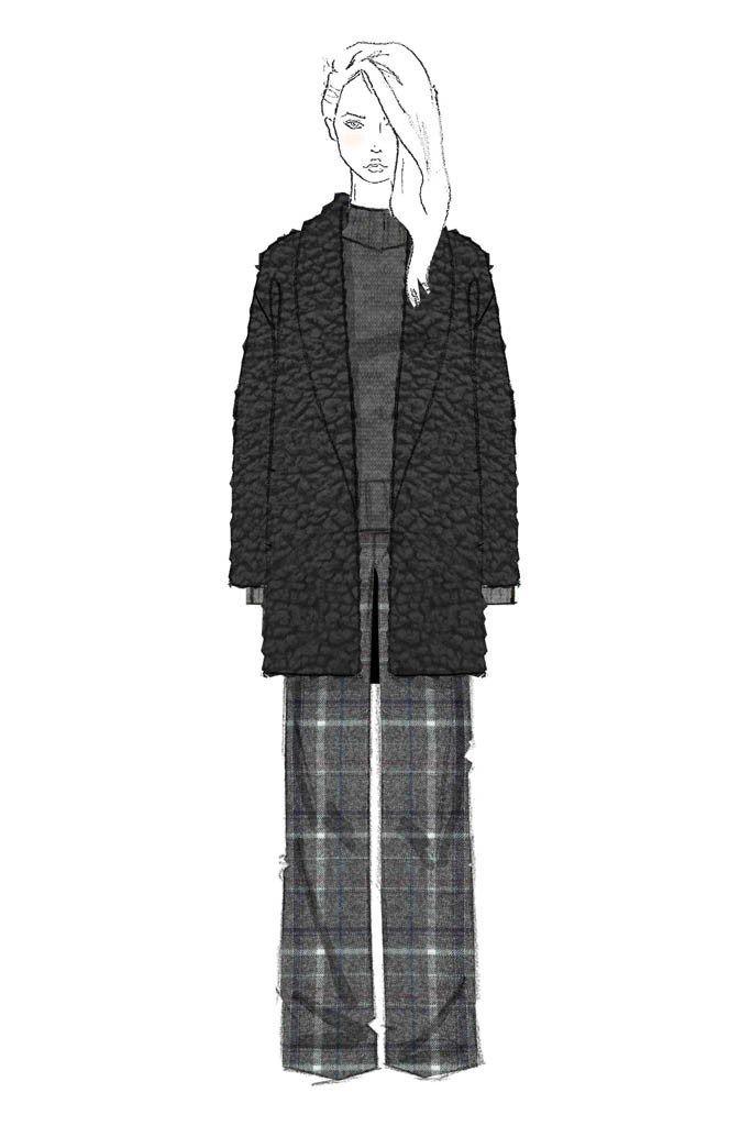 Fashion illustration - fashion sketch for Jenni Kayne Fall 2015