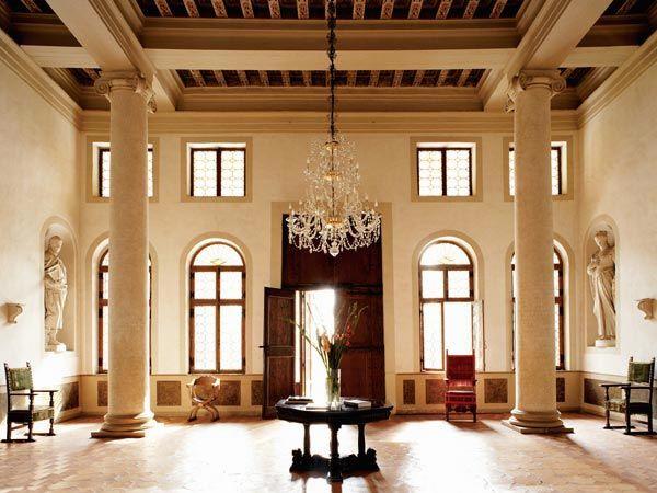 Villa Cornaro   Hall With Ionic Columns   Venice Italy Designed By The Italian  Renaissance Architect Andrea Palladio. Constructed In 1553