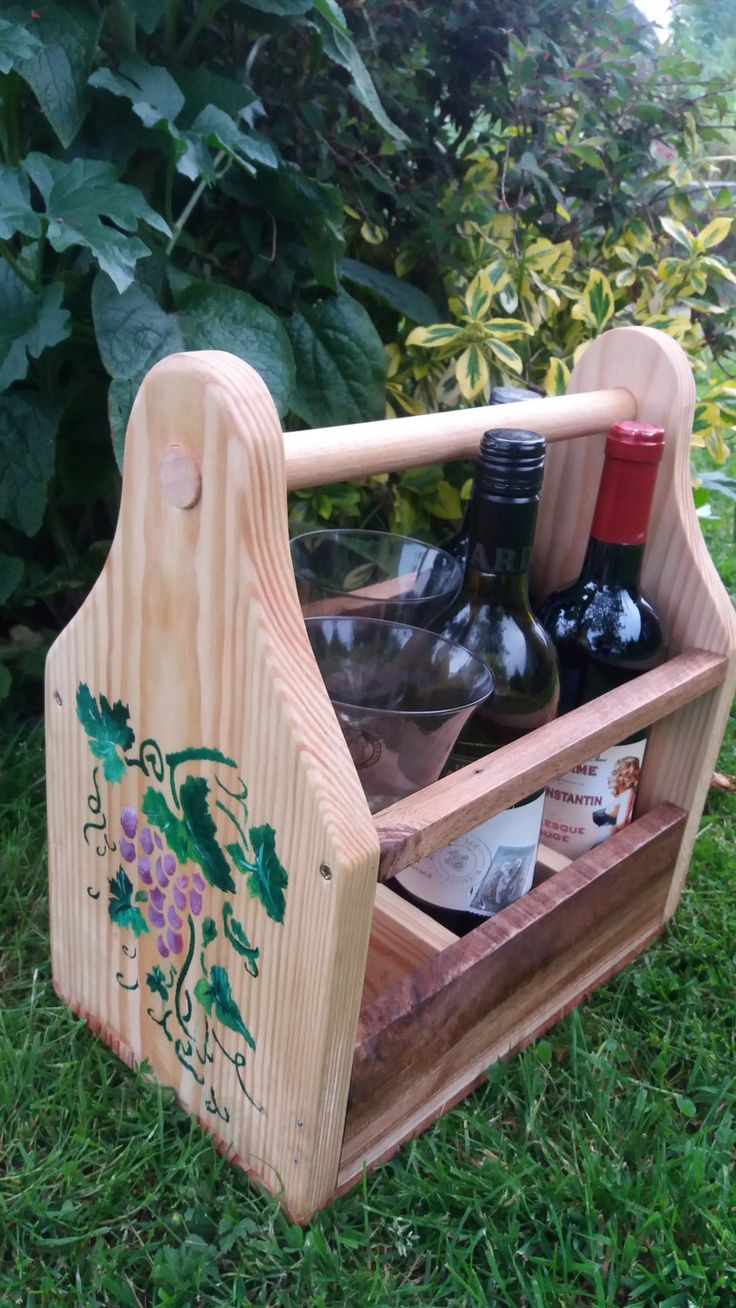 Wine caddy by EveAmberLay on Etsy https://www.etsy.com/uk/listing/463543231/wine-caddy