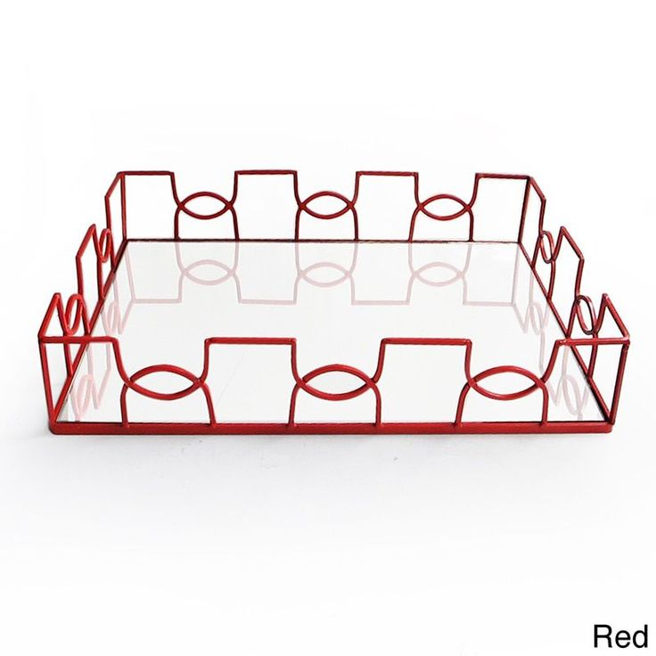 American Atelier Curved Metal and Glass Tray (