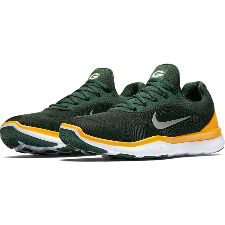 Men's Green Bay Packers Nike Green Free Trainer V7 Collection Shoes - size 12