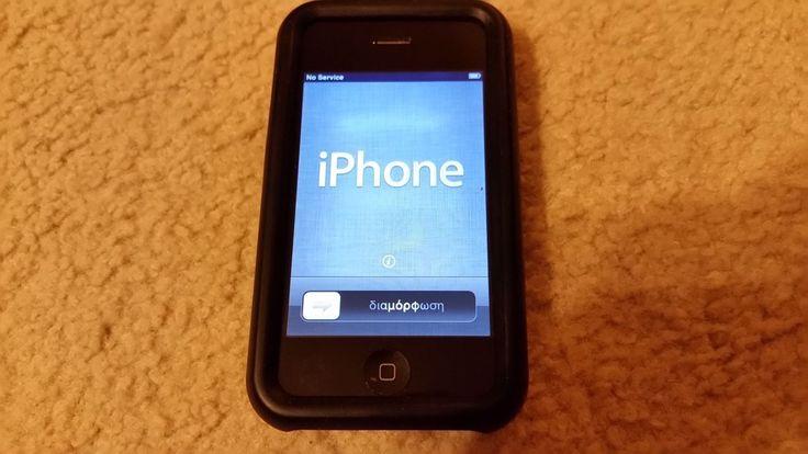 IPHONE 3GS 16GB BLACK AT&T MODEL NO 1303 WORKS GREAT GUARANTEED   eBay