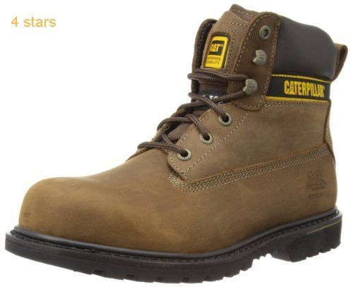 CAT Footwear Holton Steel Toe Mens Work and Safety Boots Black 10 UK