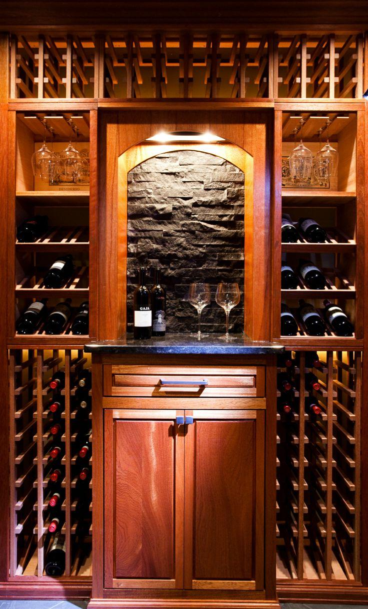 A Look At A Custom Mahogany Cellar With Clear Coat By Wineracks Com