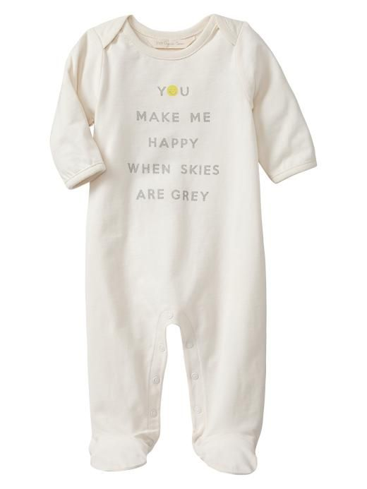 Gap | Organic happy footed one-piece - someday a grandchild of mine will have this - no rush