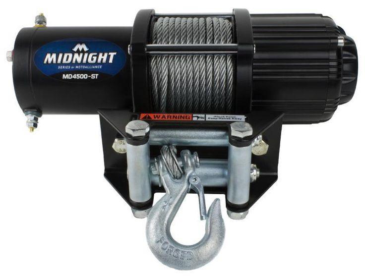 VIPER Midnight 4500lb UTV Winch Kit w/ Steel Cable -RANGER 900 & 1000XP & Crew