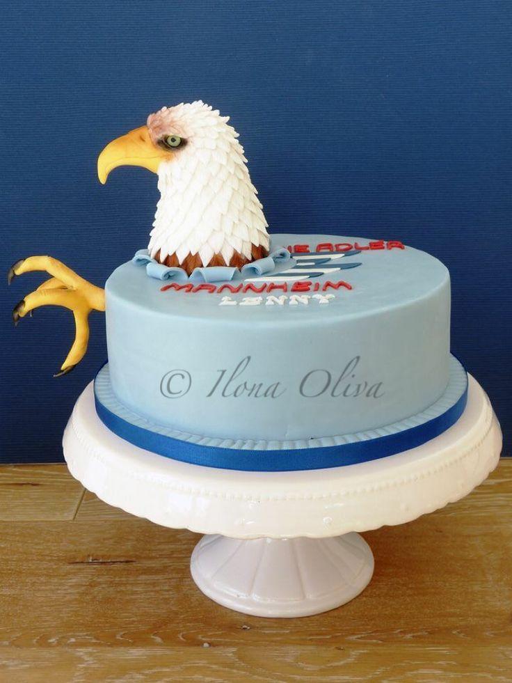 Ice hockey eagle cake Adler Mannheim