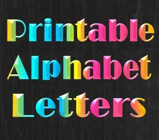 Printable Alphabet Letters Templates & Stencils That