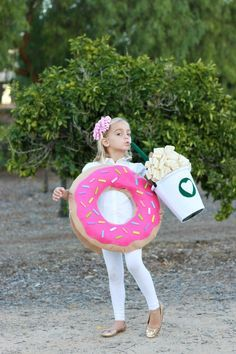 DIY coffee and donut costume from MichaelsMakers A Thoughtful Place