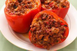 Biggest Loser Recipes - Hannah's Turkey Stuffed Peppers... Seriously the best!