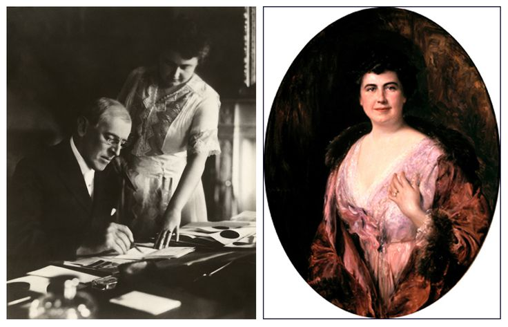 "#DidYouKnow that after President Woodrow Wilson suffered a severe stroke, his wife, First Lady Edith Bolling Galt Wilson, took over many of the presidential duties? From October 1919 - March 1921, she decided what items to bring to the bedridden President's attention and which matters of state could be handled without him. She's been called the ""Acting First Man.""  