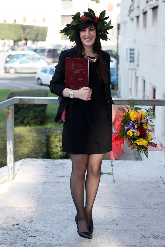 L'outfit della mia Laurea: tubino nero, blazer e décolleté