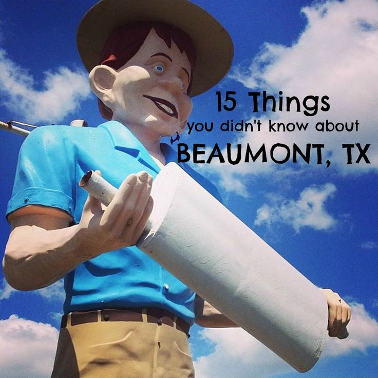 Things to see and do in Beaumont TX - muffler man