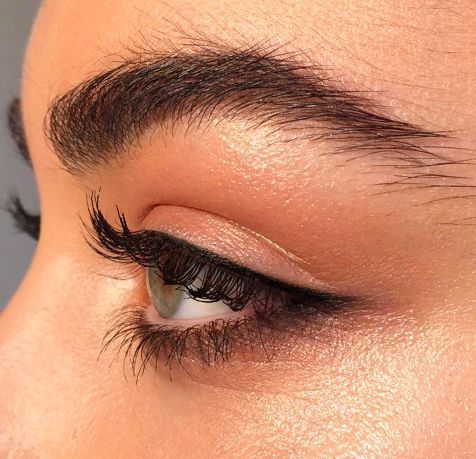 Love this subtle dark copper on the bottom last line! Smudge out a brown liner and top with penny colored shadow - try RMS Eye Polish in Lucky