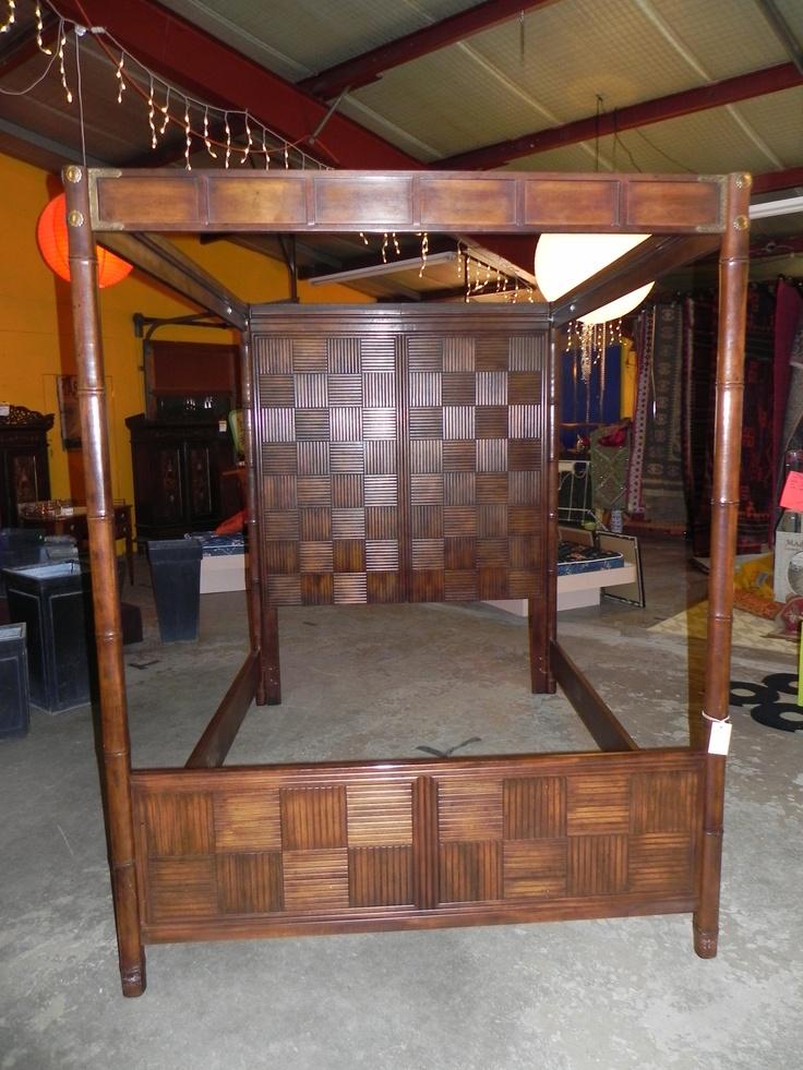 Queen/Full Asian Canopy Bed $475 - New Buffalo http://furnishly.com/queen-full-asian-canopy-bed.html
