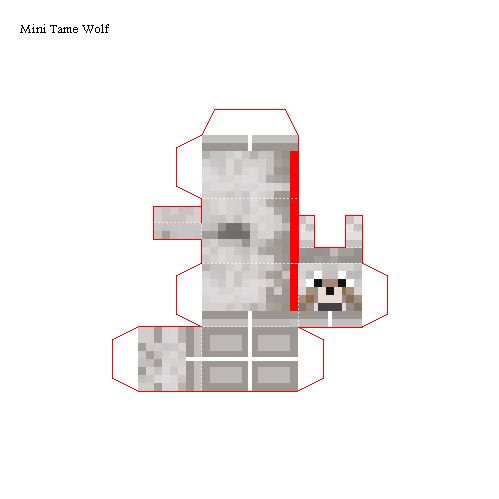 Papercraft Mini Wolf (Tame)