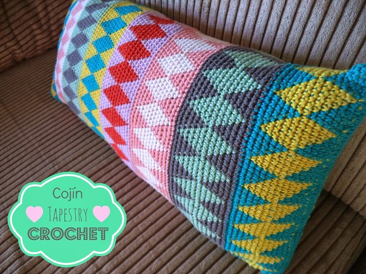 Cojín Tapestry Crochet - How to learn tapestry crochet