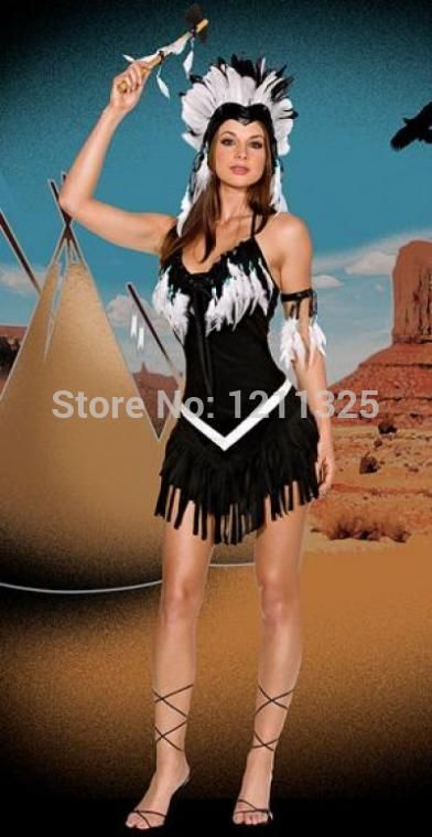 FREE SHIPPING Pocahontas indian squaw cowgirl princess fancy dress costume zt8040 #Affiliate