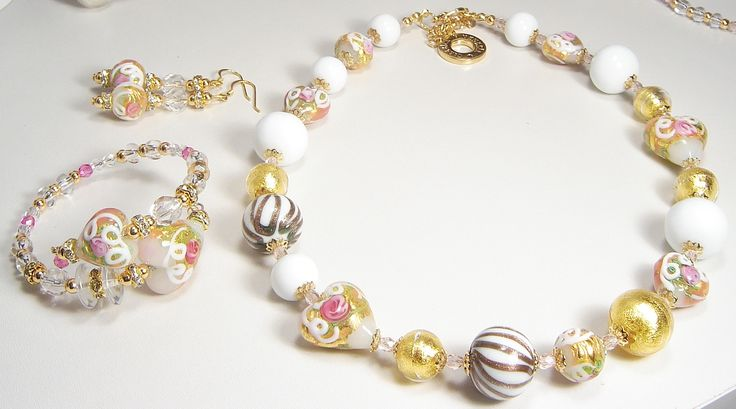 Collana/Necklace MINUIT Orginal Murano Glass Hand Made in Italy