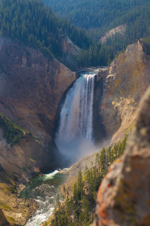 Waterfall @ Yellowstone National Park! Can't wait to go back there! Such a breathtaking sight!! A truly must see if you're in yellowstone!