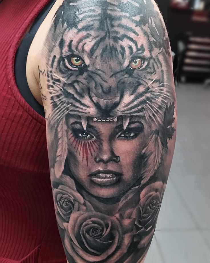 Realistic Tattoo by Trent Barker