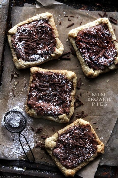 Sweet and salty Mini Brownie Pies from Bakers Royale