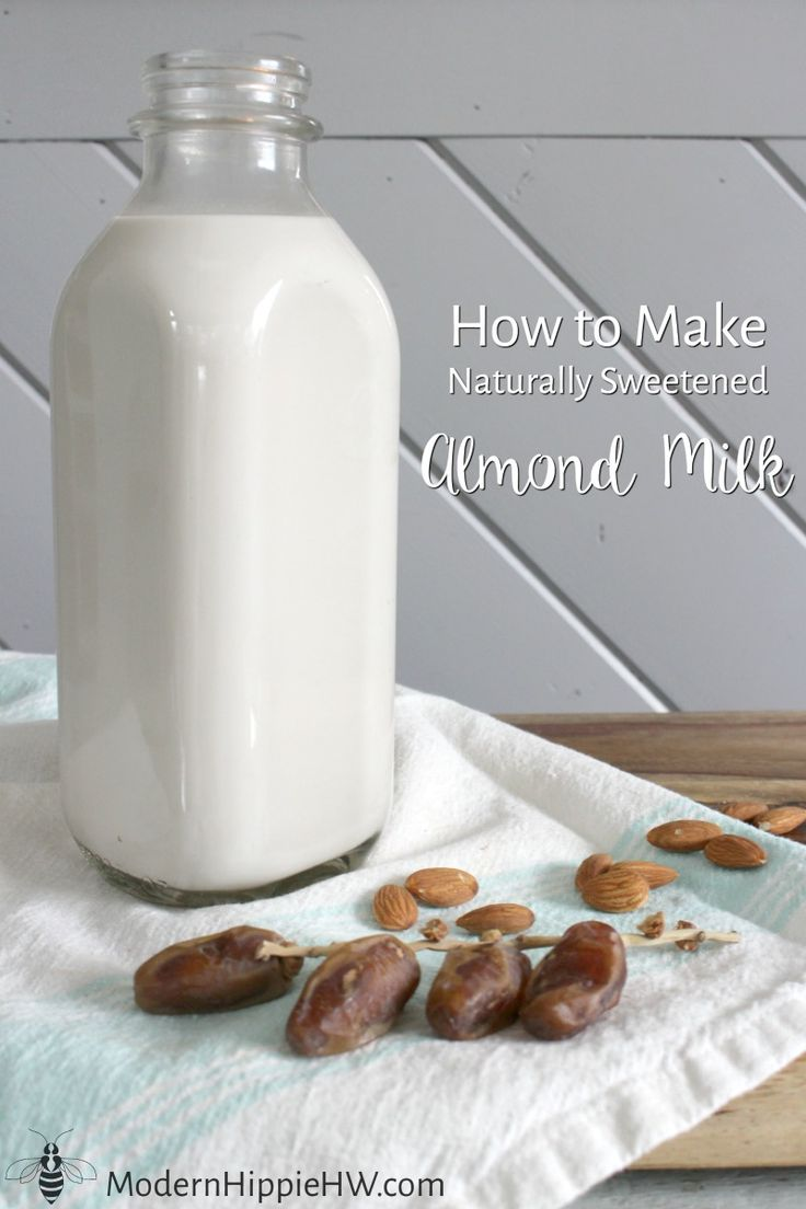 Naturally Sweetened Almond Milk easy to make and so much tastier and healthier than the store-bought stuff - you'll never go back!