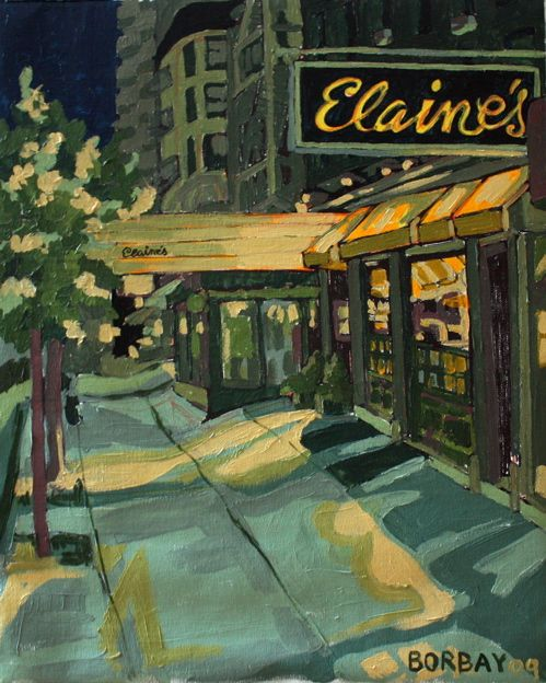 BORBAY » Painting Process | Elaine's Upper East Side