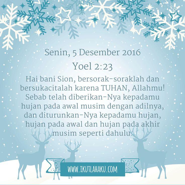 Renungan Hari Senin 5 Desember 2016