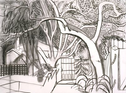 DAVID HOCKNEY: DRAWINGS | Landscape1 | Pinterest | Gardens ...