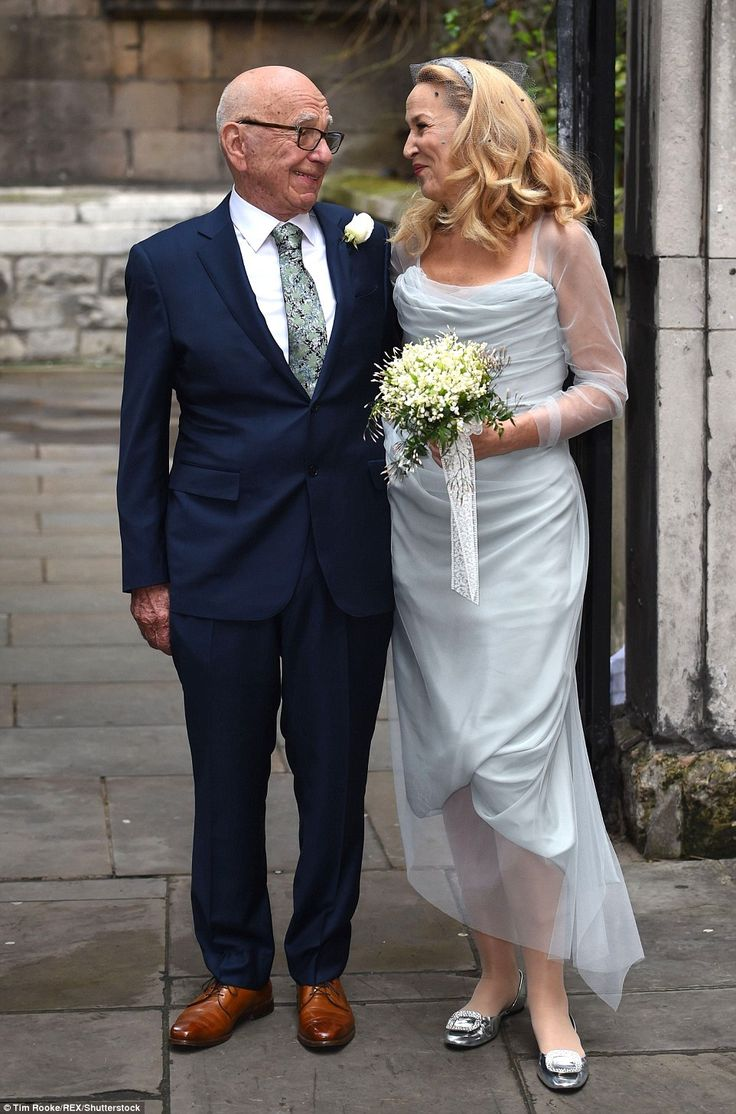 Jerry Hall's daughters make perfect bridesmaids for her wedding to Rupert Murdoch | Daily Mail Online