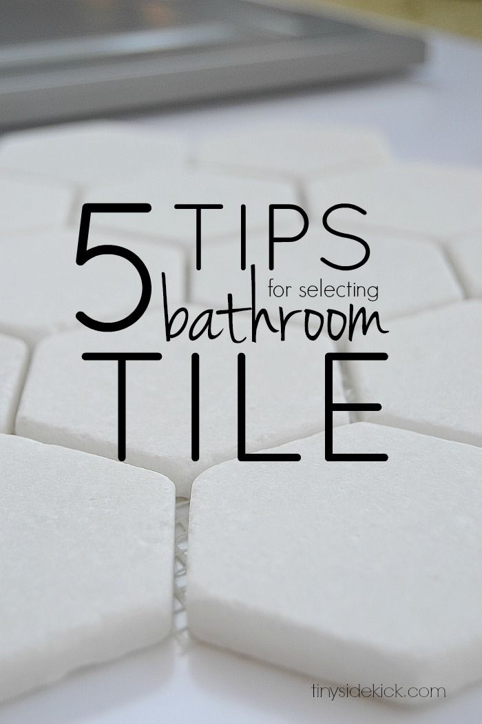 5 tips for selecting bathroom tile:  Choosing tile during a bathroom renovation can be so stressful because there are just so many choices. These 5 easy tips were so helpful to narrow down the choices!