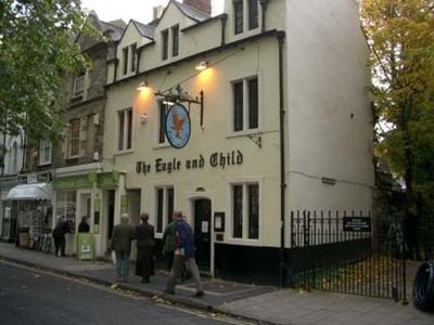 The Eagle and Child, a pub where the Inklings (withJ.R.R. Tolkien and C. S. Lewis) used to hang out, drink, and talk about their latest works
