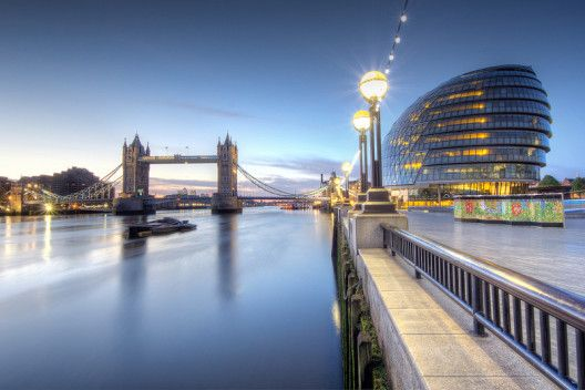 New Years dawn at london, tower bridge
