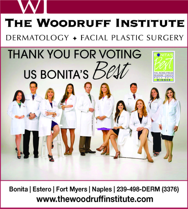 Thank you for voting us the Best #Dermatology Group in #BonitaSprings again this year! www.thewoodruffinstitute.com