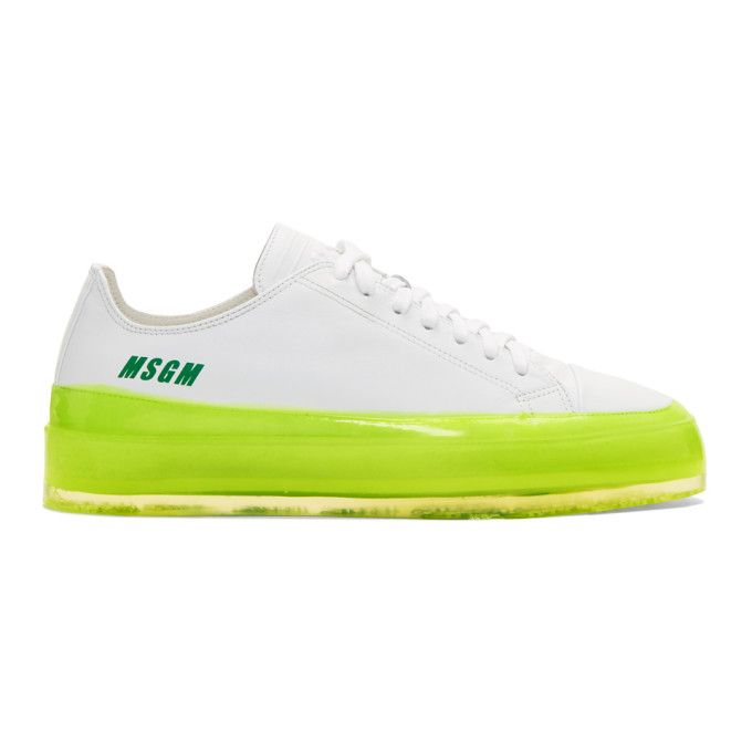 Msgm White And Yellow Rbrsl Rubber Soul