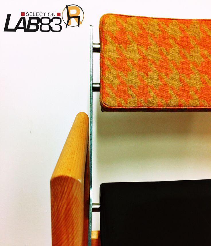 Custom Armchair. Nuova personalizzazione con boomerang e distanziali in metallo. Info@lab83.it