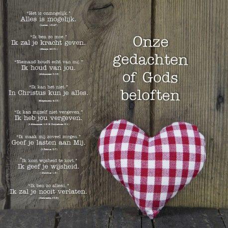 Onze gedachten of Gods beloften