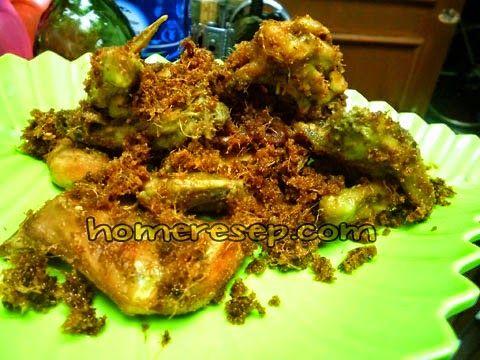Resep Ayam Goreng Padang Gurih Serundeng Lengkuas - Resep Masakan Indonesia Homemade™