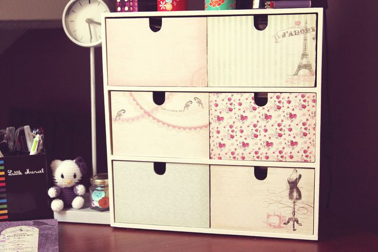 customiser ses tiroirs avec du papier scrapbooking meubles tiroirs pinterest shabby chic. Black Bedroom Furniture Sets. Home Design Ideas