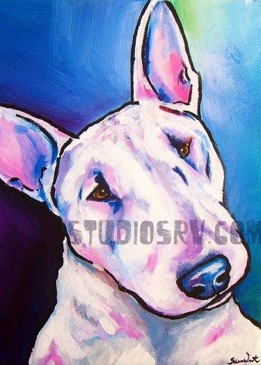 Bull Terrier Painting