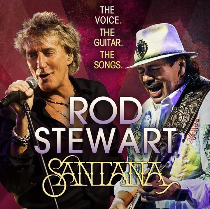 Rod Stewart and Carlos Santana touring together