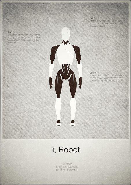 I, Robot (2004) ~ Minimal Movie Poster by Mads Svanegaard