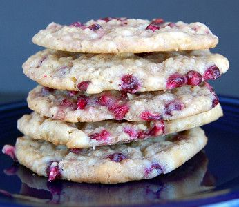 White Chocolate Pomegranate Cookies | I love Cookies!!! | Pinterest