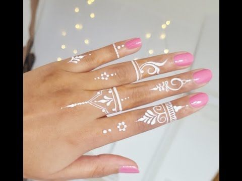 Best DIY How to Apply White Henna/ Body Paint Temporary - YouTube