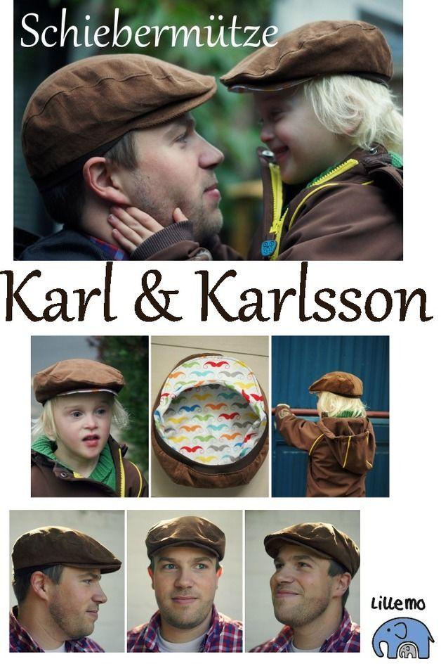 Schiebermütze Karl & Karlsson # von 41cm bis 61cm Kopfumfang # von lillemo-marie bei DaWanda