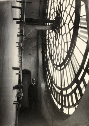 The Inner Side of Dial. Clock tower, Houses of Parliament, photo Benjamin Stone (1838-1914). Platinum print. London, England, 1897