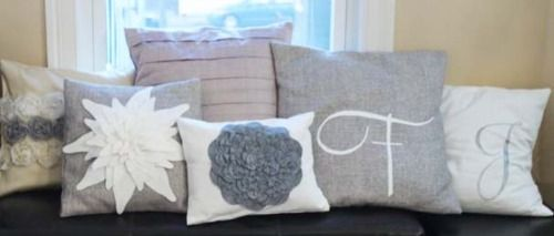 Felt Flower Pillow Covers
