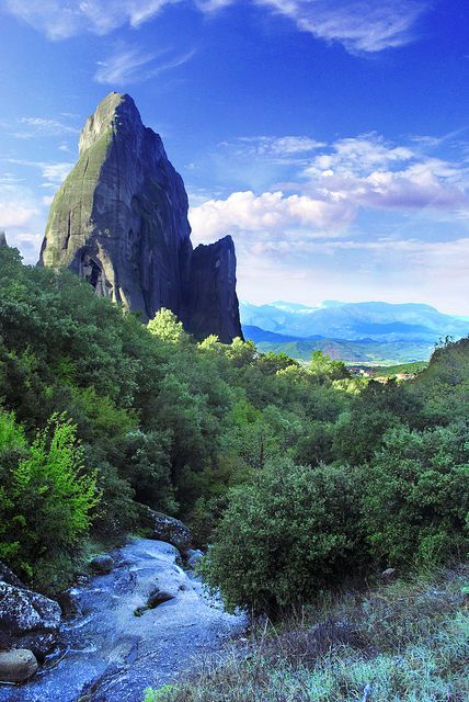 Spire of the Meteora. http://www.greece-travel-secrets.com/Central-Greece-Thessaly.html