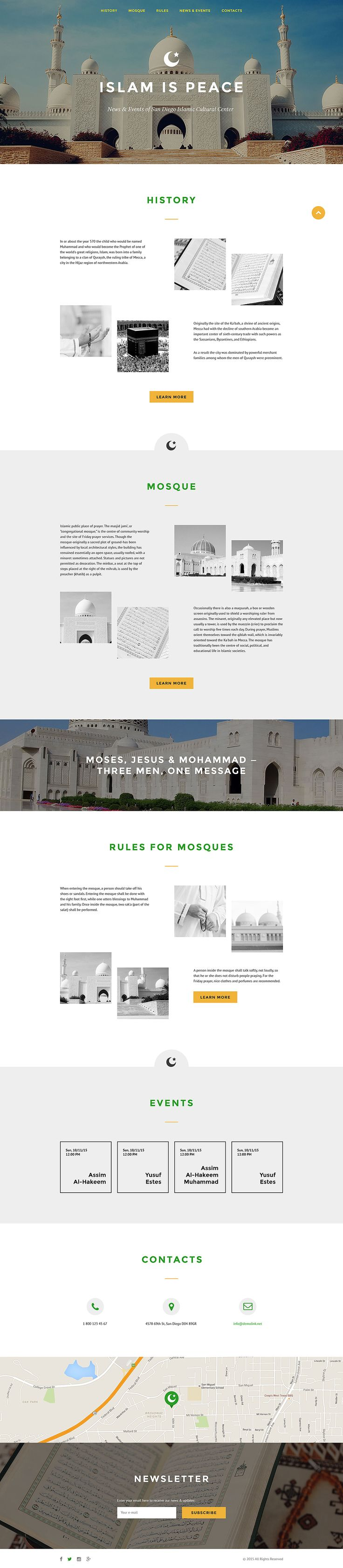 Islam Responsive Landing Page Template #57706